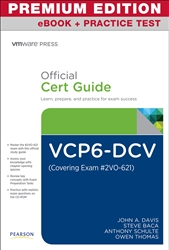 VCP6-DCV Official Cert Guide (Exam #2V0-621) Premium Edition and Practice Test, 3rd Edition
